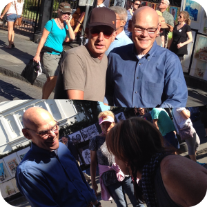 James Carville on the streets, being very friendly and approachable!