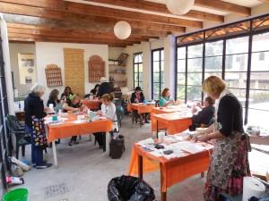 """Lynn's classroom and our """"art asylum"""" room"""