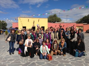 Our group at the Shrine of Atotonilco listening to Leandro's very thorough history of this UNESCO world heritage site.