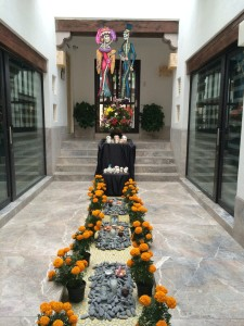 one of many altars throughout town