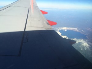 Crater Lake out the window!