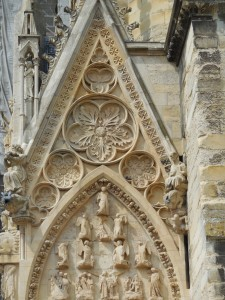 detail from the cathedral in Reims, France.