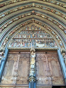 The Freiburg catherdral tympanum.