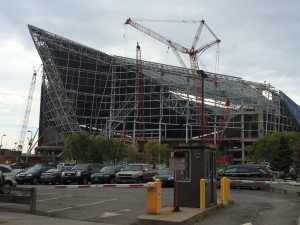 the new Viking Stadium....hence the ship shape!
