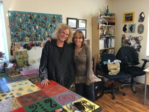 Kat and I in her studio